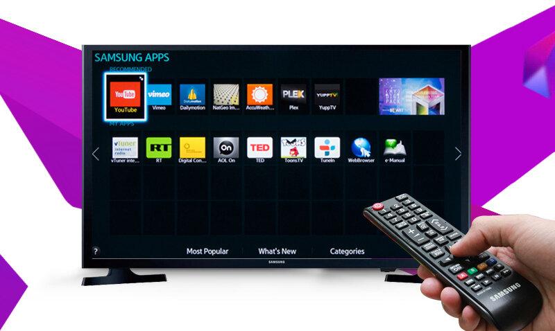 Dễ dàng điều khiển bằng remote khi dùng Smart TV
