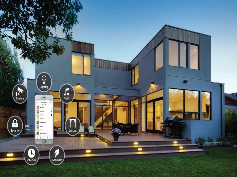Căn Smarthome với thiết bị điều chỉnh nhiệt độ, ánh sáng qua ứng dụng