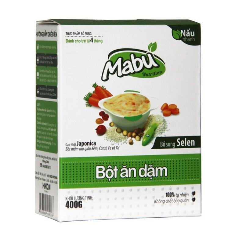 Bột ăn dặm cho bé Mabu
