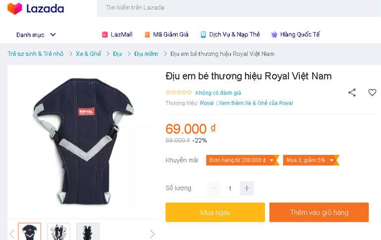 Ưu điểm của đai địu em bé hàng Việt Nam