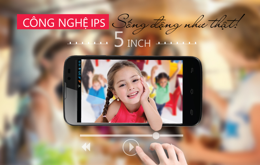 Mobell Nova-P màn hình 5 inch đô phân giải qHD