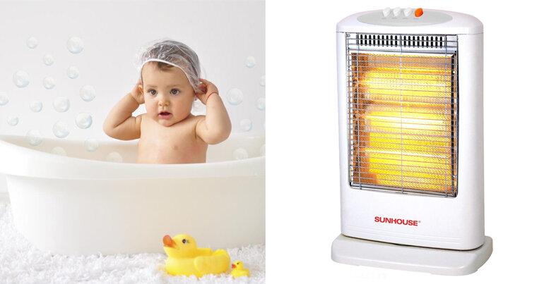 Thương hiệu quạt sưởi Sunhouse giá rẻ phù hợp cho trẻ sơ sinh