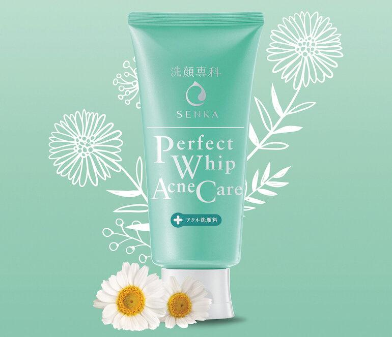 Sữa Rửa Mặt Ngừa Mụn Shiseido Senka Perfect Whip Acne Care