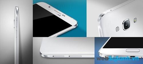 Các góc cạnh của Galaxy A8 được gia công tỷ mỉ với đường cắn CNC chính xác