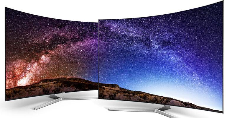 Kiểu dáng thiết kế của tivi màn hình cong