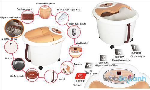 Bồn ngâm chân massage hồng ngoại Kasrrow KSRA2