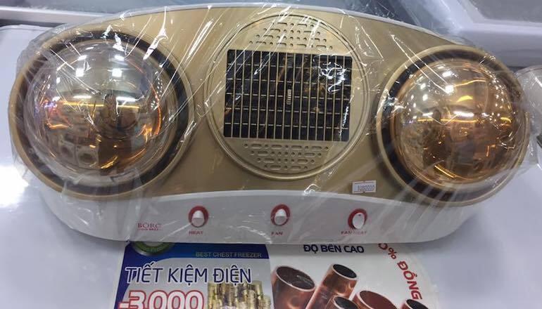 Phân biệt đèn sưởi Braun 2 bóng chính hãng bằng giá thành.