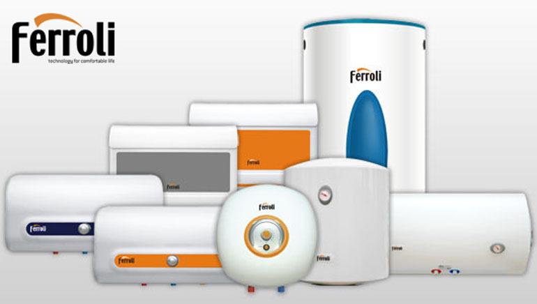 Bình nóng lạnh Ferroli có thiết kế bắt mắt.