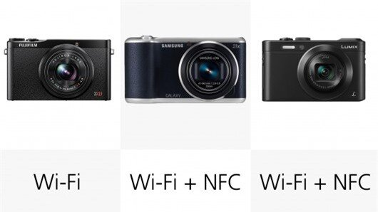 Cameras with NFC make the pairing process even easier with compatible devices