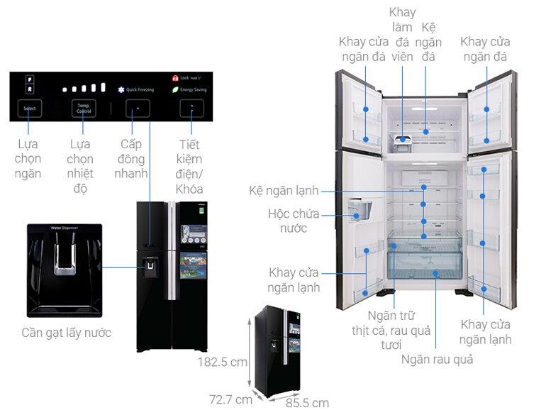tủ lạnh hitachi r fw690pgv7