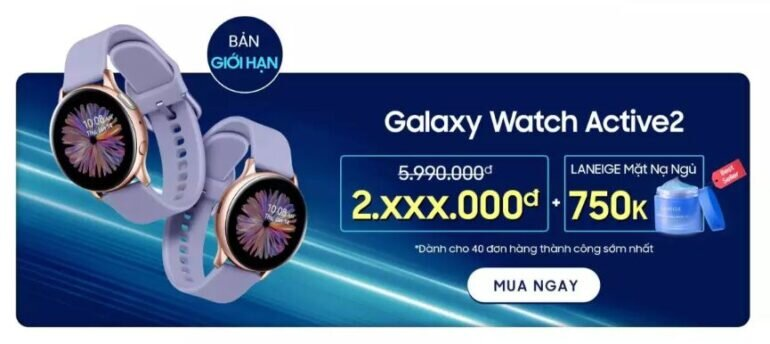 Đồng hồ Galaxy Watch Active 2