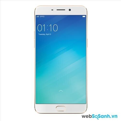 Điện thoại thông minh F1 Plus được Oppo trang bị màn hình kích thước lớn 5,5 inch với độ phân giải Full HD