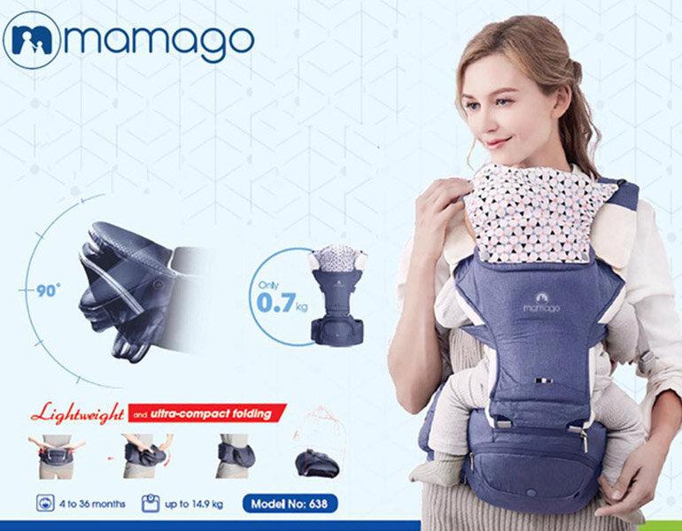 Địu cho bé sơ sinh Mamago