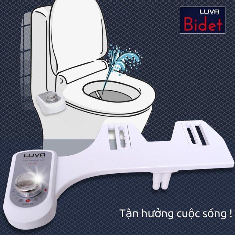 LUVA Bidet LB201 được sản xuất dựa trên dây chuyền công nghệ Hàn Quốc hiện đại, đảm bảo tối đa tiện ích sử dụng cho người dùng