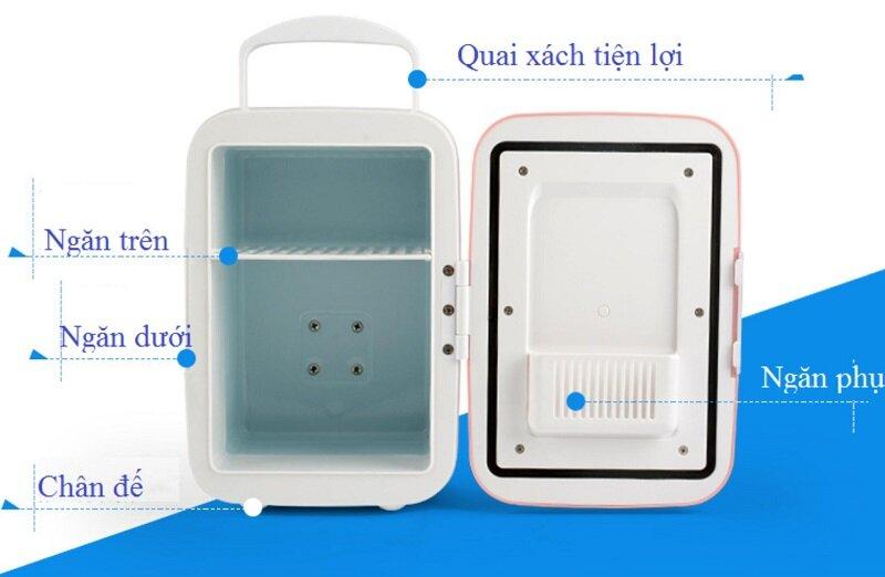 Tủ lạnh mini 4 lít thiết kế nhỏ gọn nhưng đủ chức năng cơ bản.