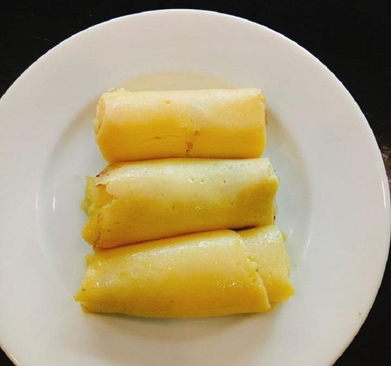 Bánh ăn dặm crepe bơ sữa cho bé