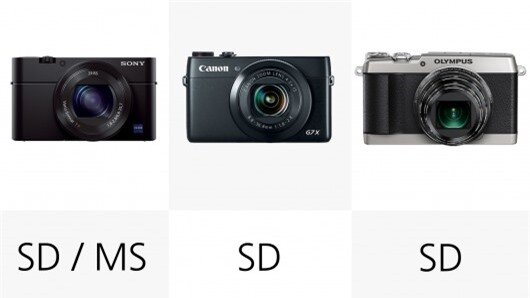 SD cards are the most common storage media for these compact cameras, though the RX100 III...