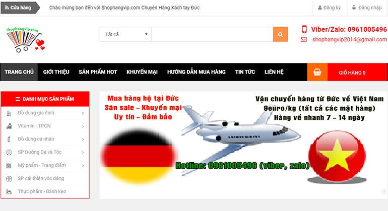 Shophangvip.com chuyên về sản phẩm chính hãng từ Nhật và Đức