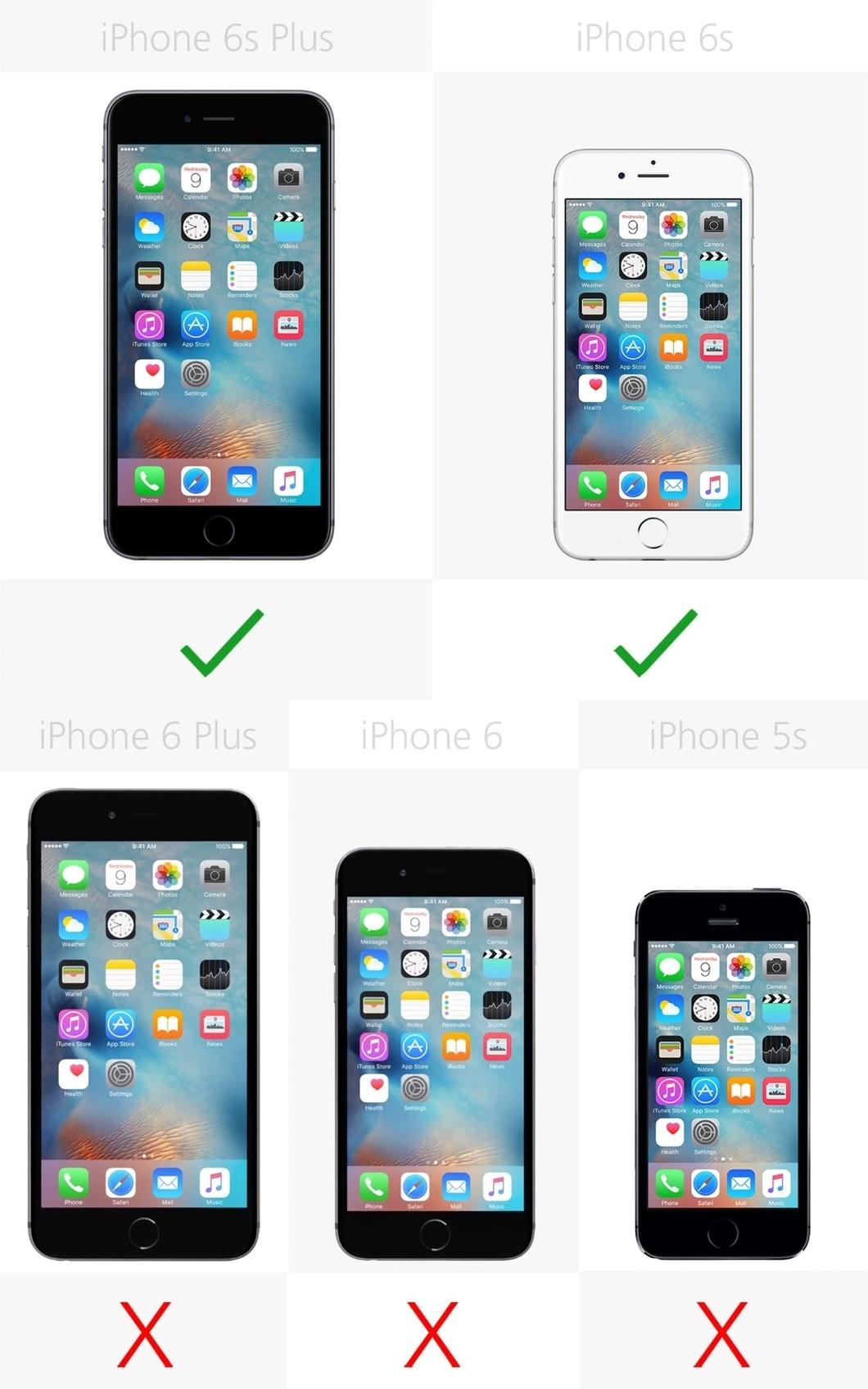 Chỉ iPhone 6s Plus và iPhone 6s sở hữu công nghệ cảm ứng 3D Touch
