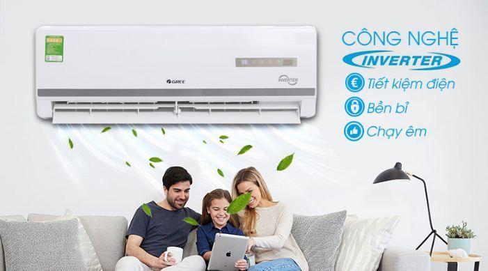 Điều hòa máy lạnh Gree Inverter 1 HP GWC09WA-K3D9B7I - Giá rẻ nhất: 6.890.000 vnđ