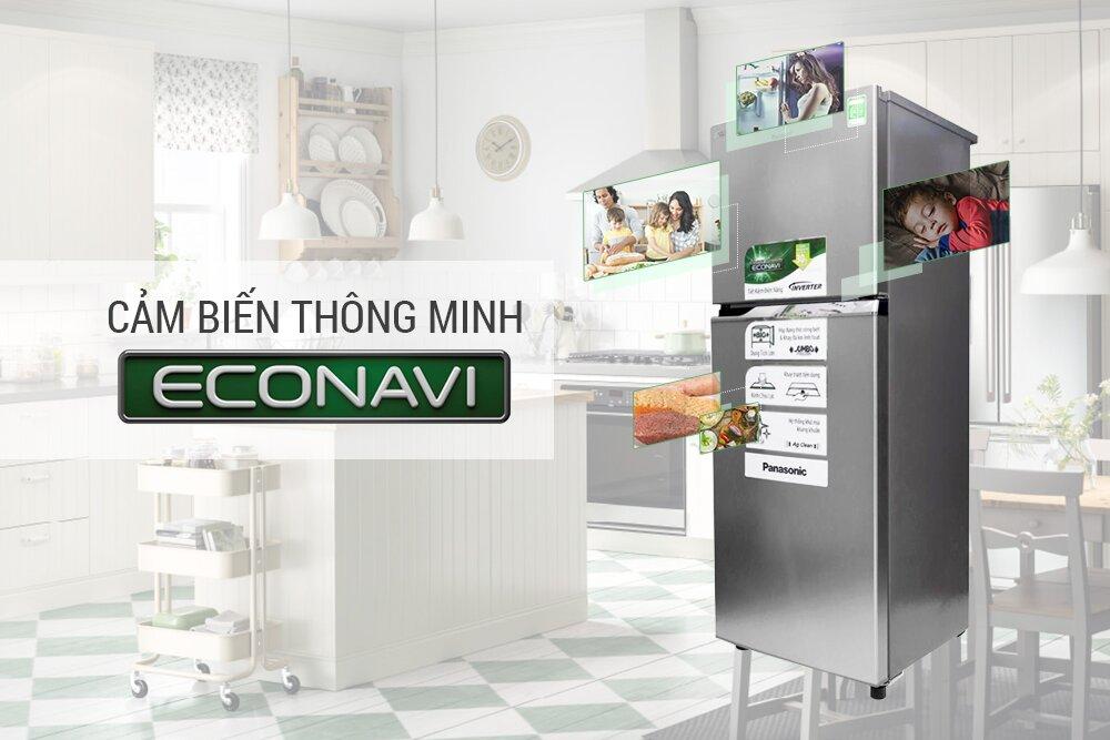 Econavi được sử dụng làm cảm biến cho cửa tủ lạnh