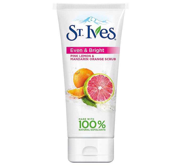 Sữa rửa mặt và tẩy tế bào chết St.Ives Even Bright Pink Lemon & Mandarin Orange Scrub