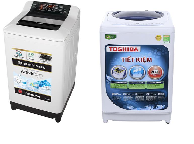 Nên mua máy giặt cửa trên của Toshiba hay Panasonic ?