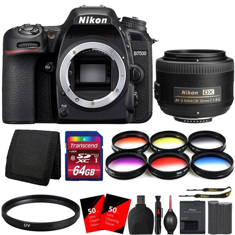 Máy ảnh Nikon kèm lens 35mm lấy nét tự động