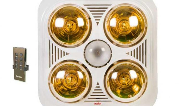 Đèn sưởi nhà tắm 4 bóng âm trần tốt nhất của Kohn