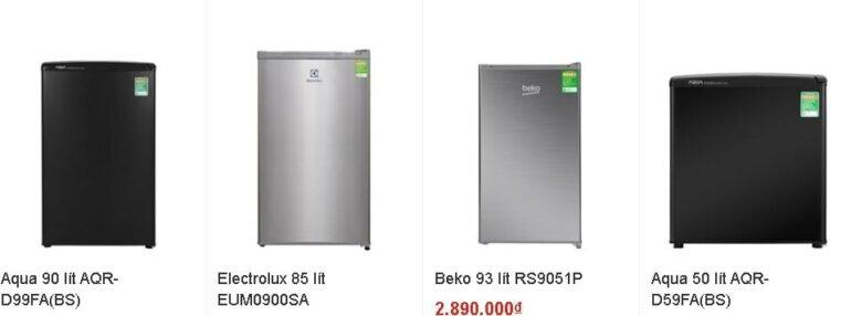 Tủ lạnh mini giá rẻ cực ít mẫu mã và thương hiệu để lựa chọn