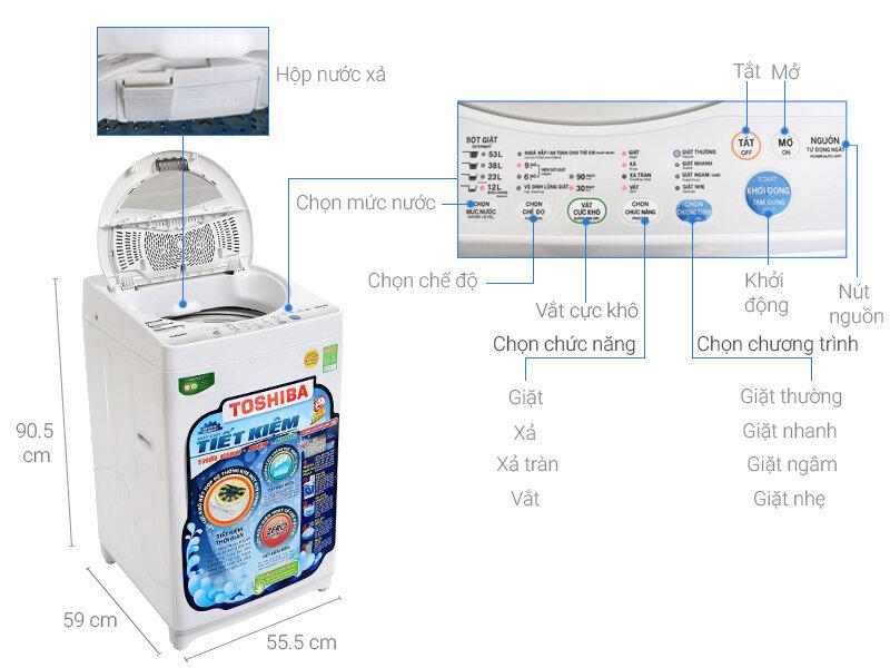 Máy giặt lồng đứng Toshiba AW-MF920LV với thiết kế sang trọng, ưa nhìn