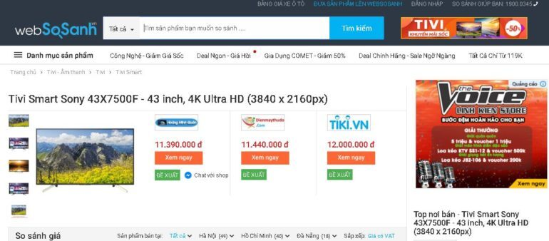 Android Tivi Sony 4K 43 inch KD-43X7500F
