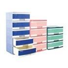 Tủ nhựa đại Duy Tân, 5 ngăn màu xanh, rộng 57cm