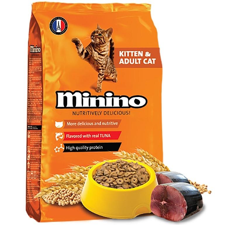 Thức ăn cho mèo Minino có giá trị dinh dưỡng cao