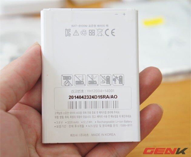 Dung lượng pin Vega Iron 2 đạt 3.220 mAh.