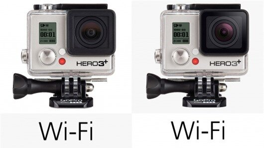 The new Hero3+ cameras lack the Bluetooth connectivity of the Hero4 shooters