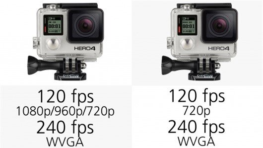 The GoPro Hero4 Black can record 120 fps footage at 1080p