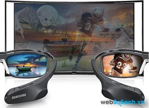 Tính năng Multi View của chiếc KN55S9C với hai kính 3D
