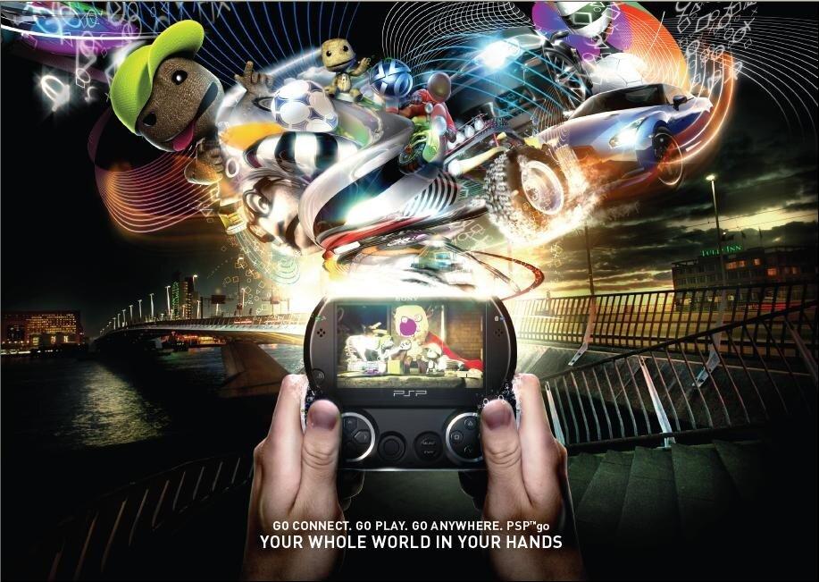 máy chơi game sony psp go
