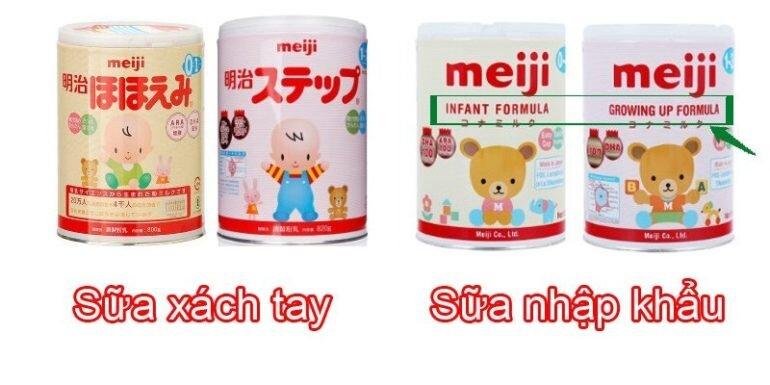 Chỉ có 1% sữa Meiji nội địa Nhật là hàng xách tay?