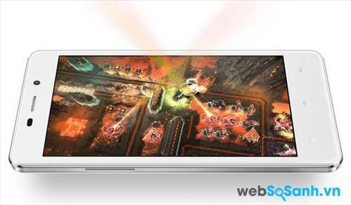 Chất lượng hình ảnh Joy 3 đem lại cũng tốt hơn Lenovo A2010 nhờ màn hình sử dụng tấm nền IPS LCD