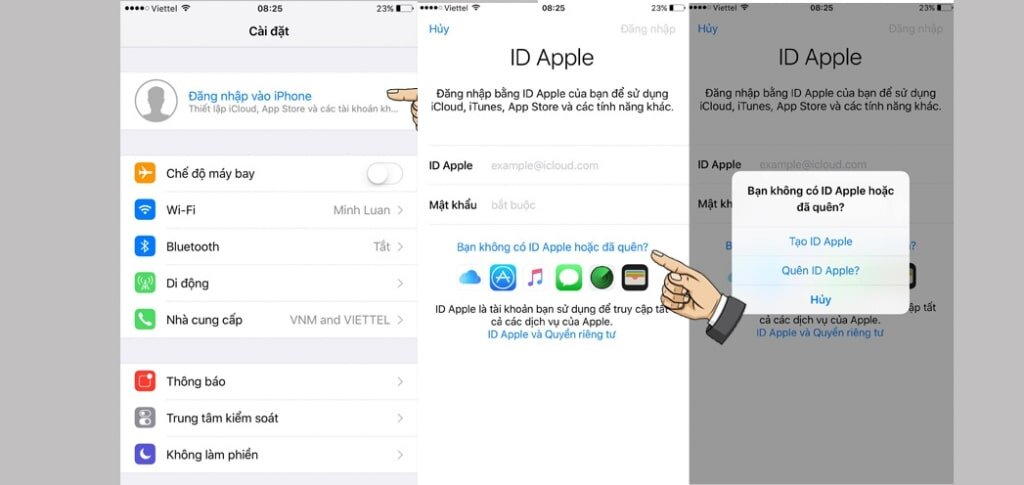 Đăng nhập ID Apple