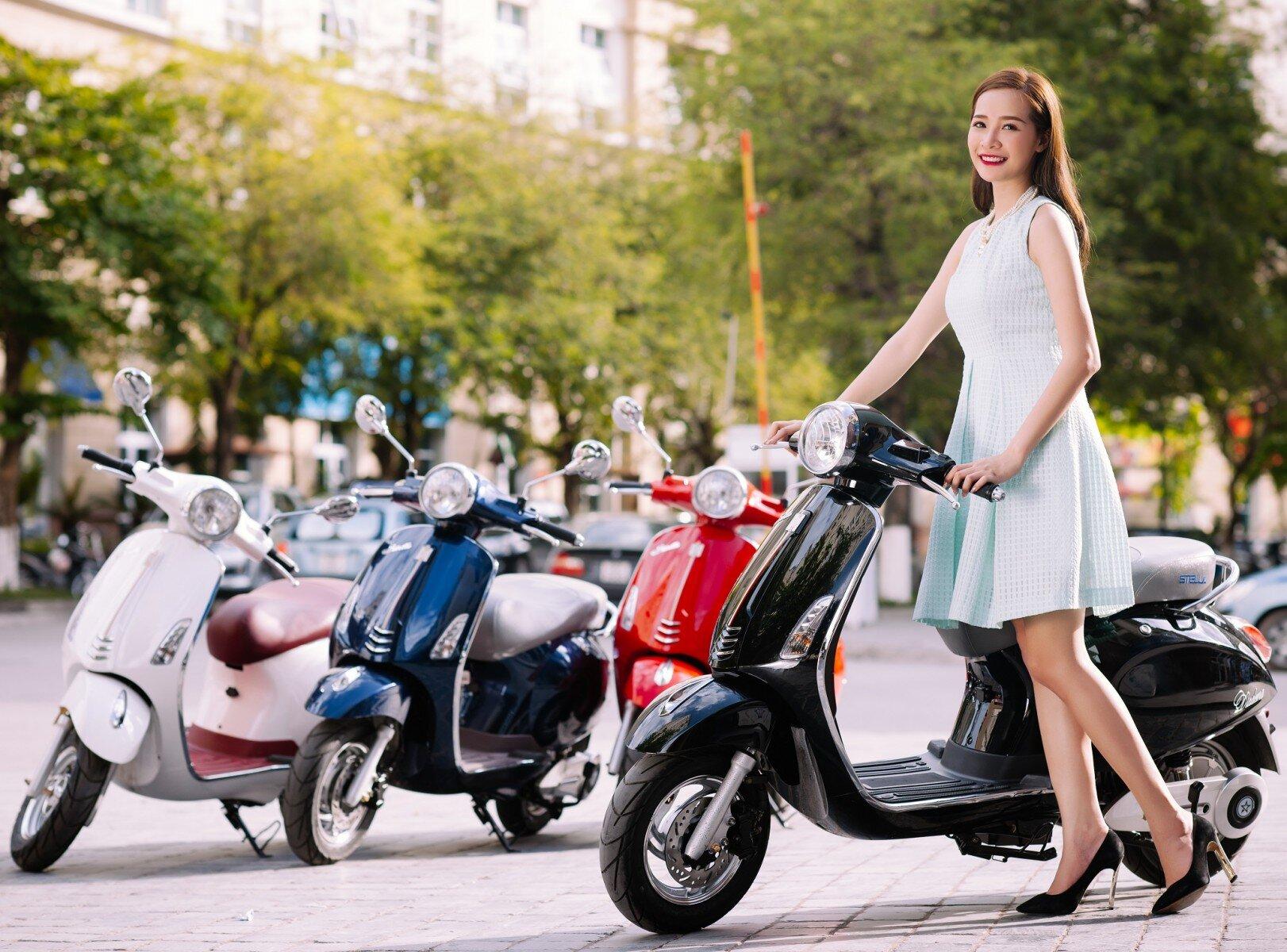 Xe máy điện có kiểu dáng thời trang, đẹp mắt