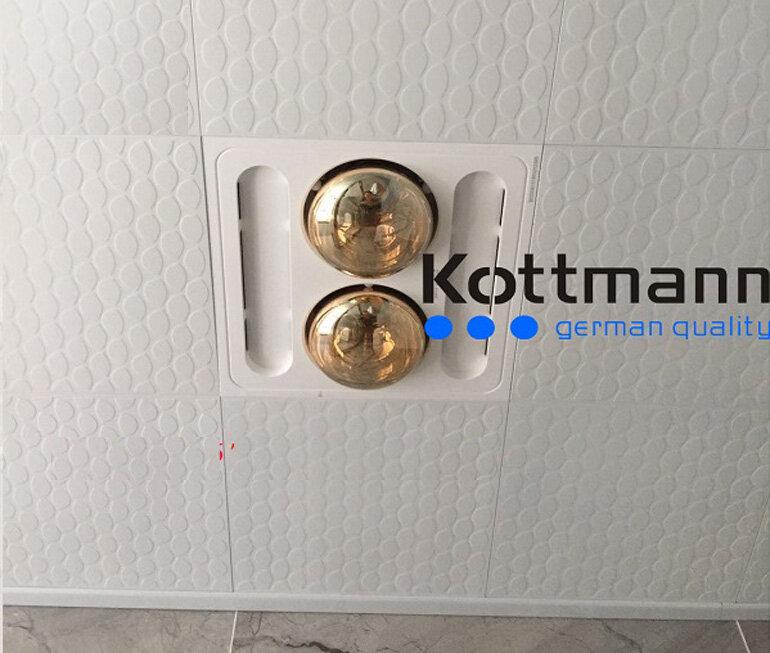 Đèn sưởi nhà tắm âm trần tiết kiệm diện tích cho phòng tắm.