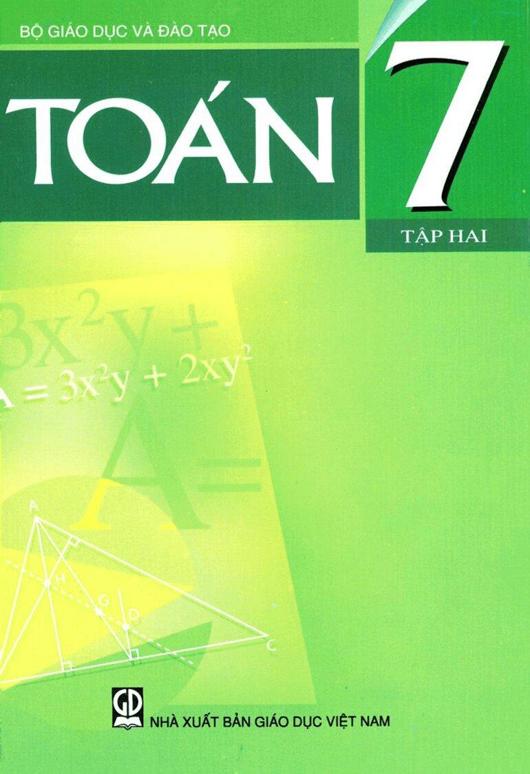 Sách giáo khoa toán 7 tập 2 có nội dung đồng đều phù hợp