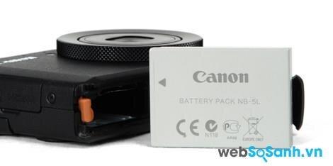 Máy ảnh Canon PowerShot S110 đi kèm với pin Li-ion dung lượng 1120mAh