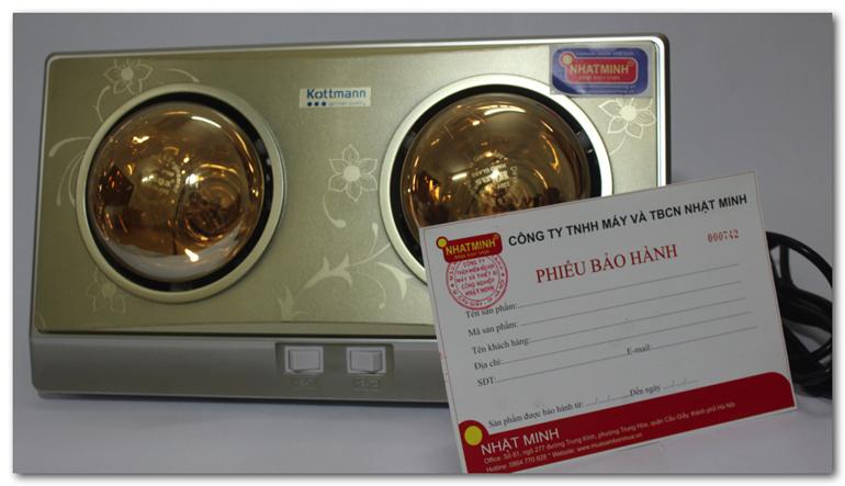 Đèn sưởi nhà tắm Kottmann 2 bóng K2-BG