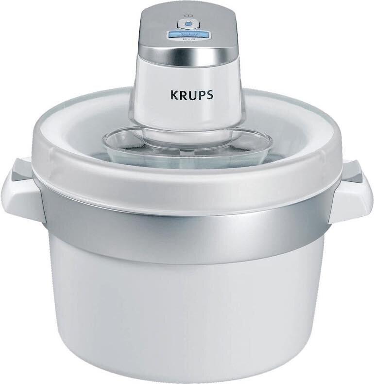 Máy làm kem Krups có thiết kế hiện đại và nhỏ gọn
