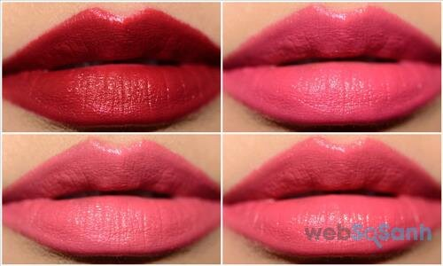 Màu Rouge Rum Punch (RD504), Ruby Cooper (RD501), Sweet Desire (RD714), Toffee Apple (RD308)