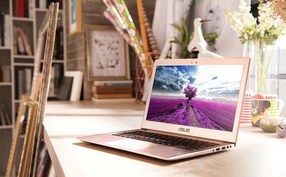 Laptop Asus có thiết kế đẹp mắt, mềm mại, phù hợp với nữ giới